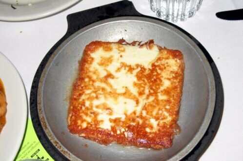 Resultado de imagen de Saganaki – Queso Frito